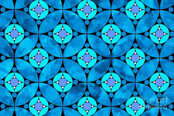 Digital Art - Blue Moon by E B Schmidt
