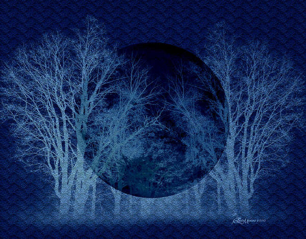 Digital Art - Blue Moon by Ericamaxine Price