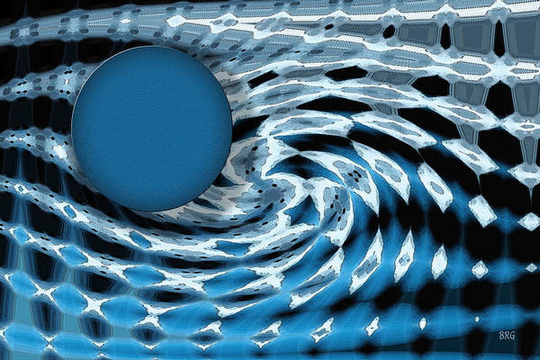 Planets And Moons Digital Art - Blue Moon Fantasyscape by Ben and Raisa Gertsberg