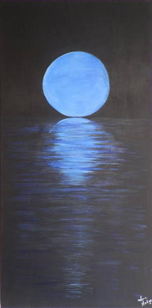 Ione Painting - Blue Moon by Ione Hedges