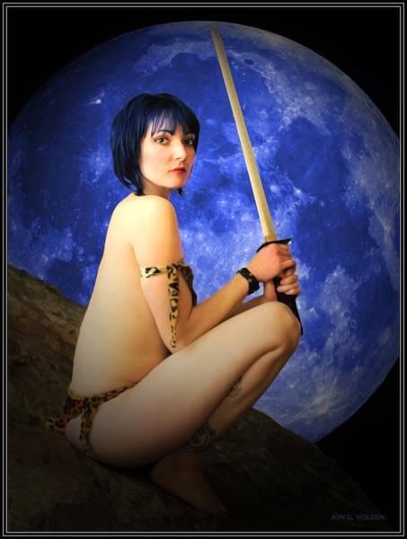 Photograph - Blue Moon by Jon Volden