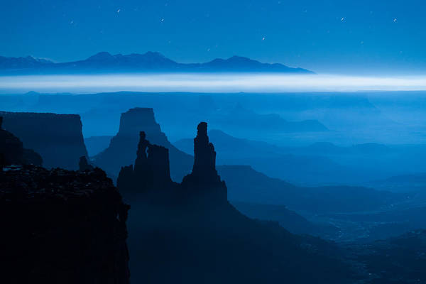 Art Print featuring the photograph Blue Moon Mesa by Dustin  LeFevre