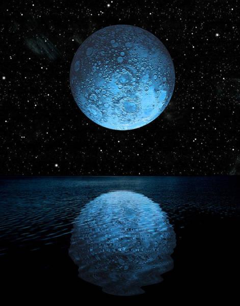 Photograph - Blue Moon Rising No.2 by Marc Ward