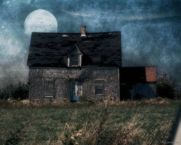 Prince Edward Island Painting - Blue Moon Rising by RC DeWinter