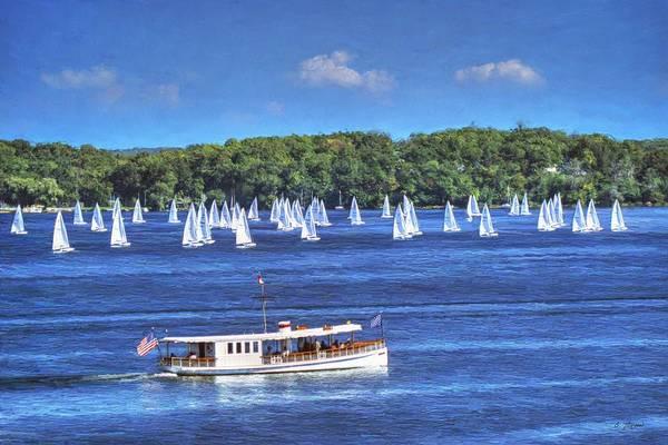 Blue Morning Cruise - Lake Geneva Wisconsin Art Print