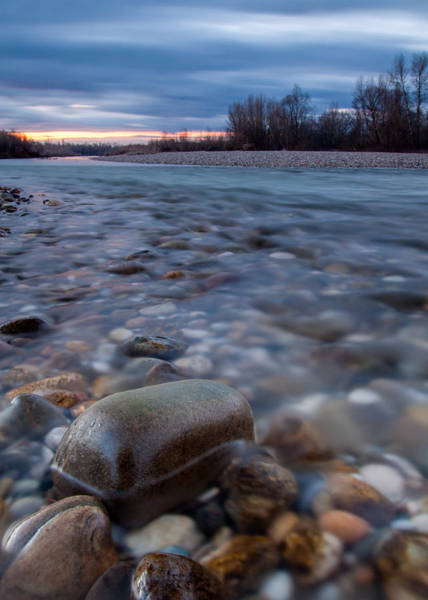 Riverscape Wall Art - Photograph - Blue Morning by Davorin Mance