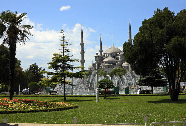 Sultan Ahmet Camii Wall Art - Photograph - Blue Mosque And Garden by Sally Weigand