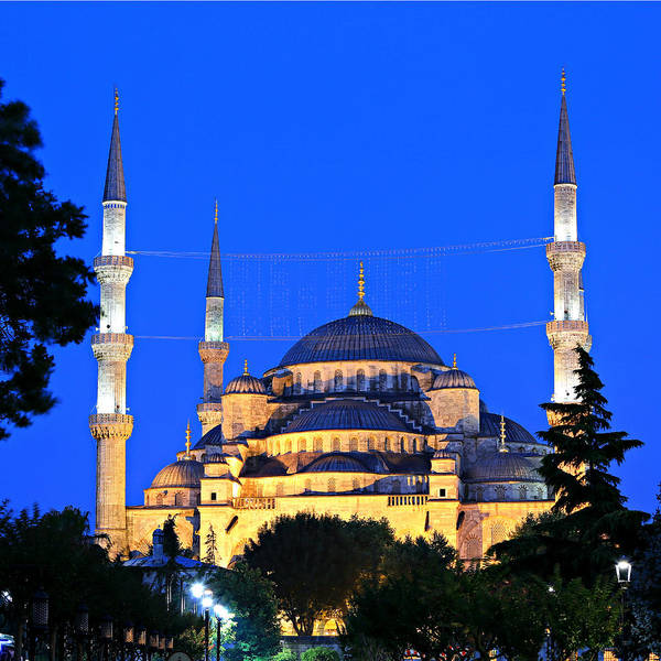 Wall Art - Photograph - Blue Mosque At Dawn by Stephen Stookey