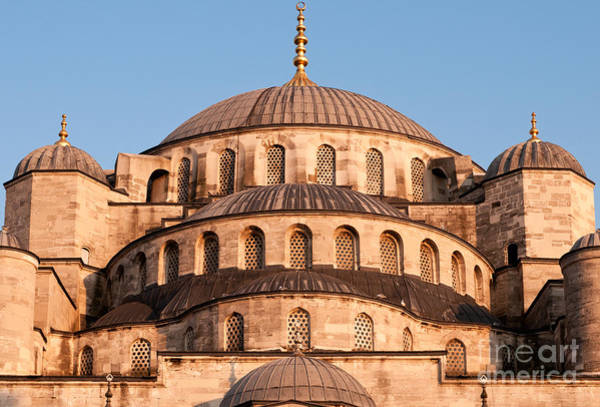 Sultan Ahmet Camii Wall Art - Photograph - Blue Mosque Domes 03 by Rick Piper Photography
