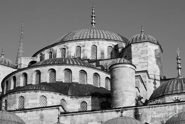 Sultan Ahmet Camii Wall Art - Photograph - Blue Mosque Domes 06 by Rick Piper Photography