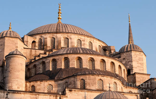 Sultan Ahmet Camii Wall Art - Photograph - Blue Mosque Domes 09 by Rick Piper Photography