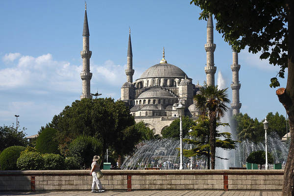 Sultan Ahmet Camii Wall Art - Photograph - Blue Mosque Istanbul by Sally Weigand