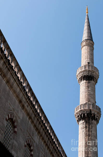 Sultan Ahmet Camii Wall Art - Photograph - Blue Mosque Minaret 02 by Rick Piper Photography