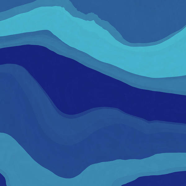 Wall Art - Digital Art - Blue Motion by David G Paul