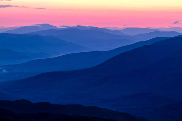 Photograph - Blue Mountain Layers  by Jeff Sinon