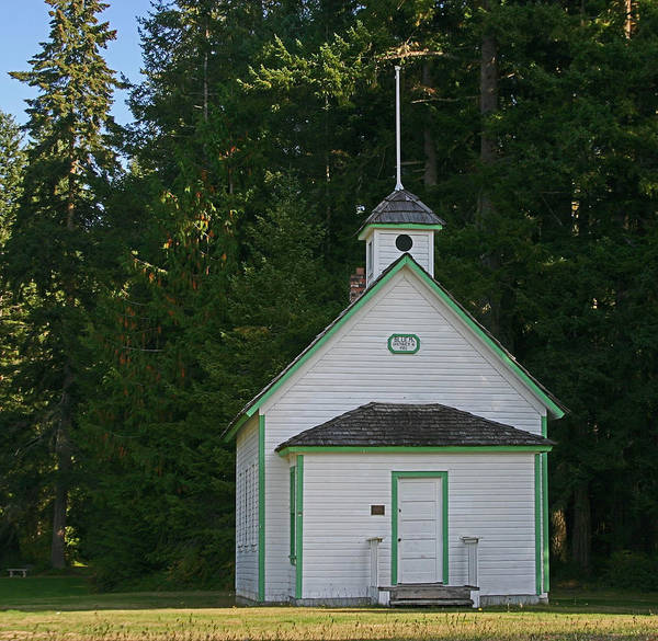 Pioneer School Photograph - Blue Mountain School Clallam County Wa by Hugh Carino