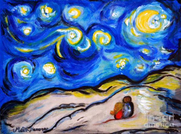 Wall Art - Painting - Blue Night by Ramona Matei