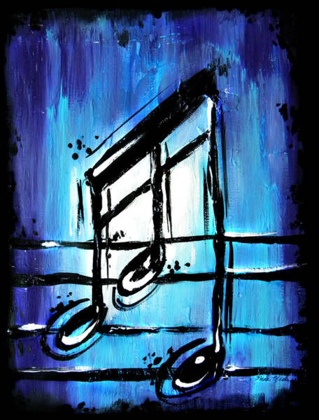 Painting - Blue Notes  by Nada Meeks