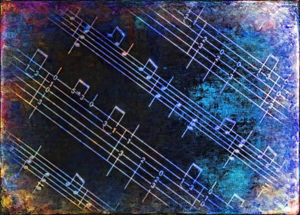 Digital Art - Blue Notes by Rick Wicker