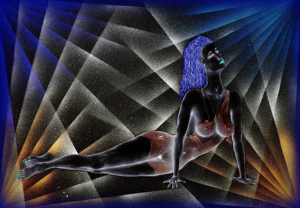 Sexuality Mixed Media - Blue Nude by Kenneth Clarke