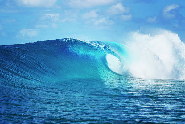 Wall Art - Photograph - Blue Ocean Wave, Epic Surf by Design Pics Vibe
