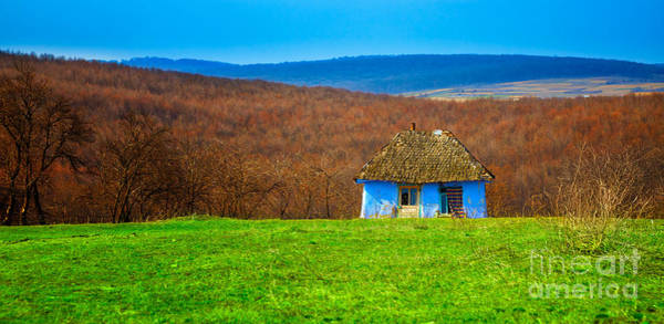 Moldova Wall Art - Photograph - Blue Old Cottage by Gabriela Insuratelu