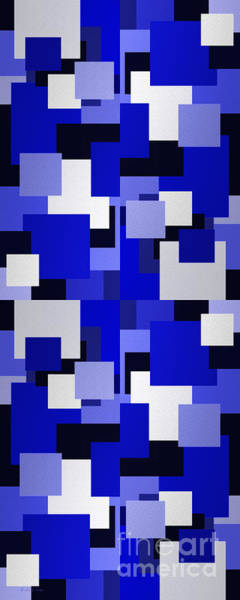 Digital Art - Blue On Blue 3 Panorama by Andee Design