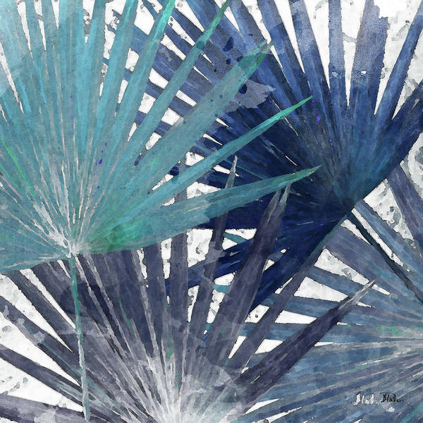 Organic Mixed Media - Blue Organic II by Patricia Pinto