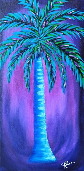 Rhea Painting - Blue Palm by Rhea Witthoft