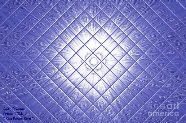 Special Offer Painting - Blue Pattern Burst See Description by Gert J Rheeders
