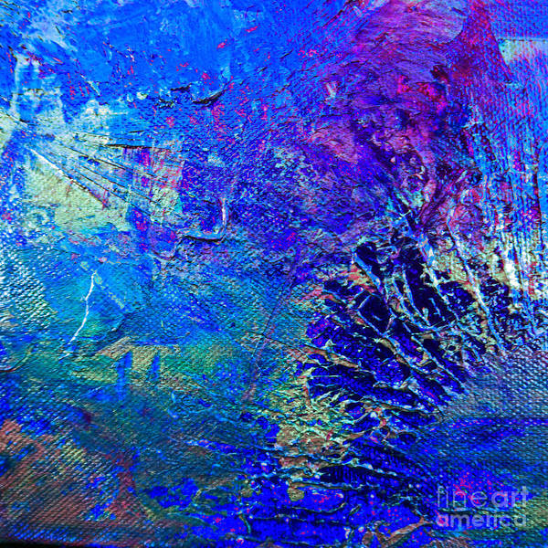 Pink Champagne Painting - Blue Planet by Kusum Vij