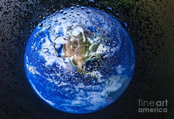 Photograph - Blue Planet by Les Palenik