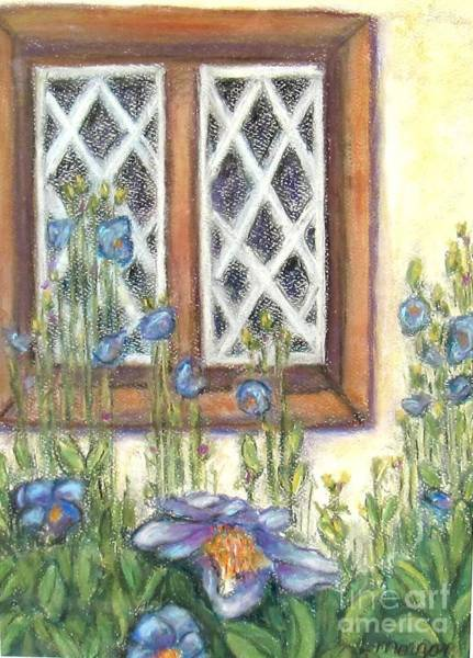 Painting - Blue Poppies Of Luss by Laurie Morgan