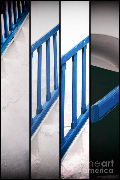 Photograph - Blue Railing Panels by John Rizzuto