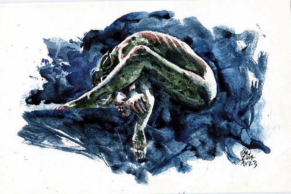 Wall Art - Painting - Blue Relax by Ken Meyer