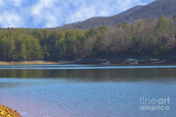 Photograph - Blue Ridge Lake Point 8 by Michael Waters