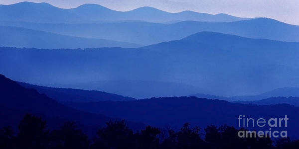 Blue Ridge Mountain Panoramic  Art Print