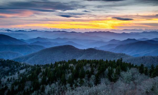 Blue Ridge Parkway Landscape Photography - Hazy Shades Of Winter Art Print