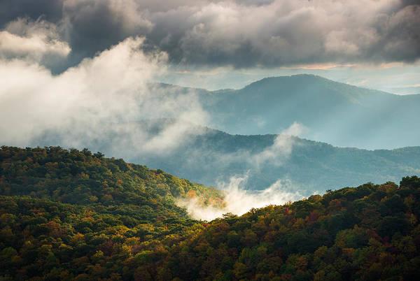 Wall Art - Photograph - Blue Ridge Parkway Nc Autumn Morning by Dave Allen