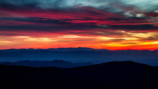 Photograph - Blue Ridge Parkway Sunset by Pierre Leclerc Photography