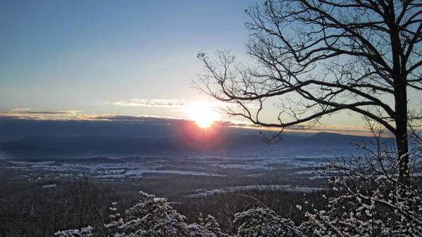 Photograph - Blue Ridge Winter's Dawn by Lara Ellis