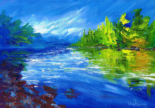 Painting - Blue River by Ekaterina Chernova