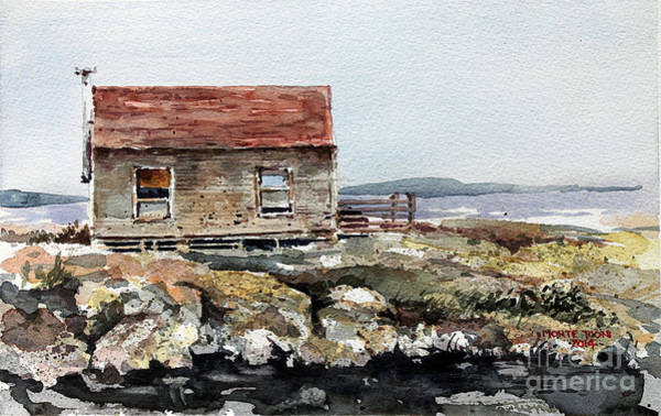 Painting - Blue Rocks Nova Scotia by Monte Toon