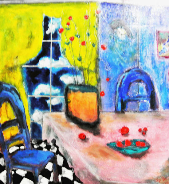Painting - Blue Room by Dilip Sheth