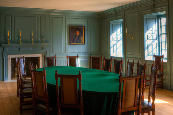 Photograph - Blue Room 2 Wren Building by Jerry Gammon