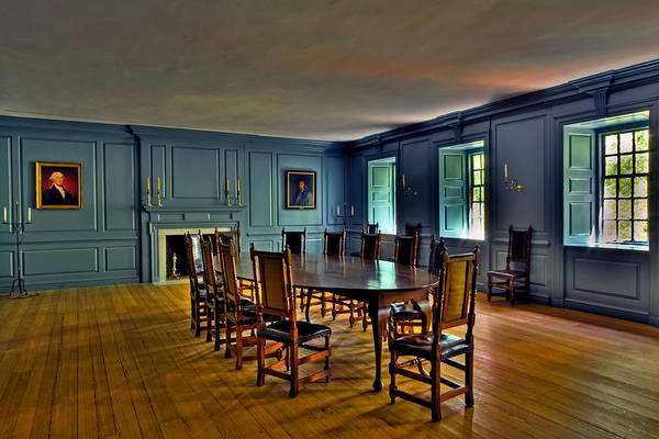 Photograph - Blue Room Wren Building by Jerry Gammon