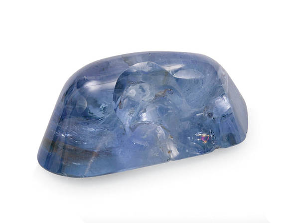 Uncut Photograph - Blue Sapphire Stone by Natural History Museum, London/science Photo Library