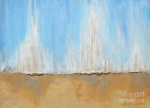 Painting - Blue Sea Sand by Kaata    Mrachek