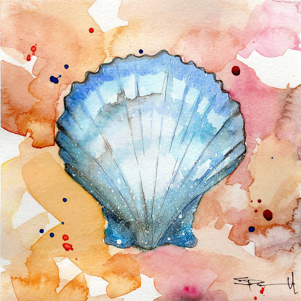 Painting - Blue Shell by Sean Parnell