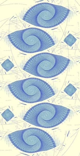 Digital Art - Blue Shells by Anastasiya Malakhova